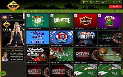 Gday Casino- An Incredible Feel